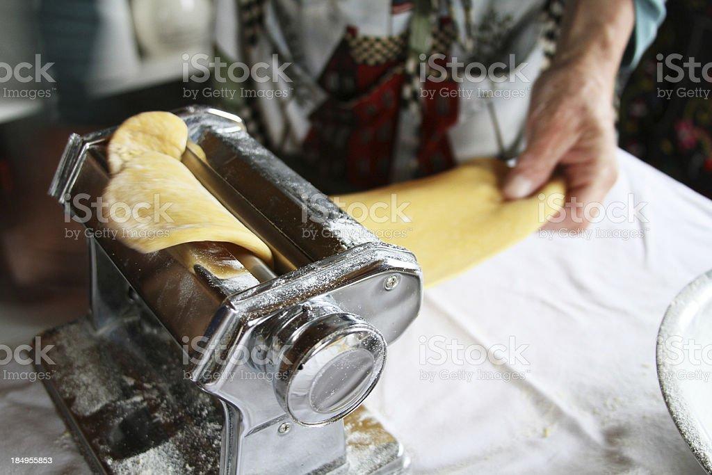 pasta machine working stock photo