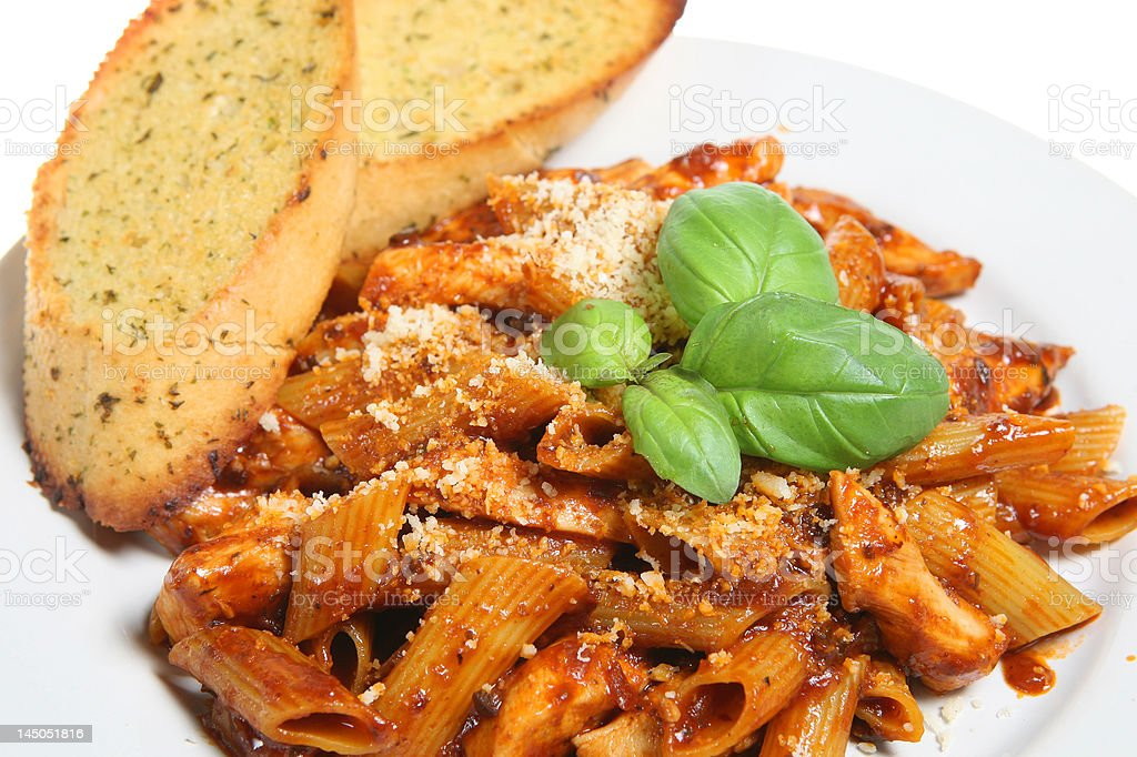 Pasta Meal royalty-free stock photo