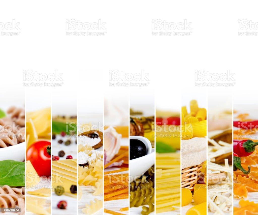 Pasta Mix Stripes royalty-free stock photo