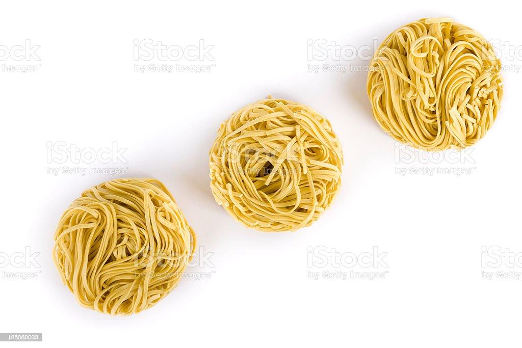 pasta nest stock photo