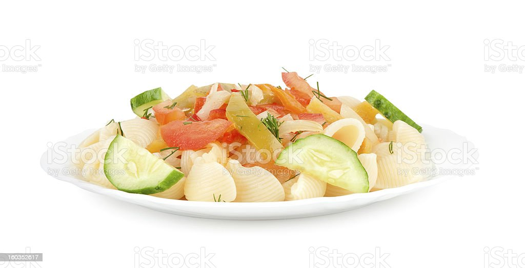 pasta on a plate royalty-free stock photo