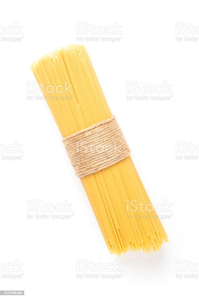 Pasta auf weißem Hintergrund - Lizenzfrei Asiatische Nudeln Stock-Foto