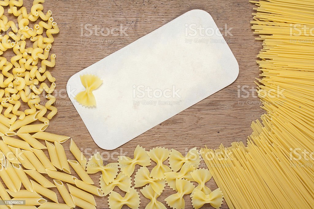 Pasta on wood royalty-free stock photo