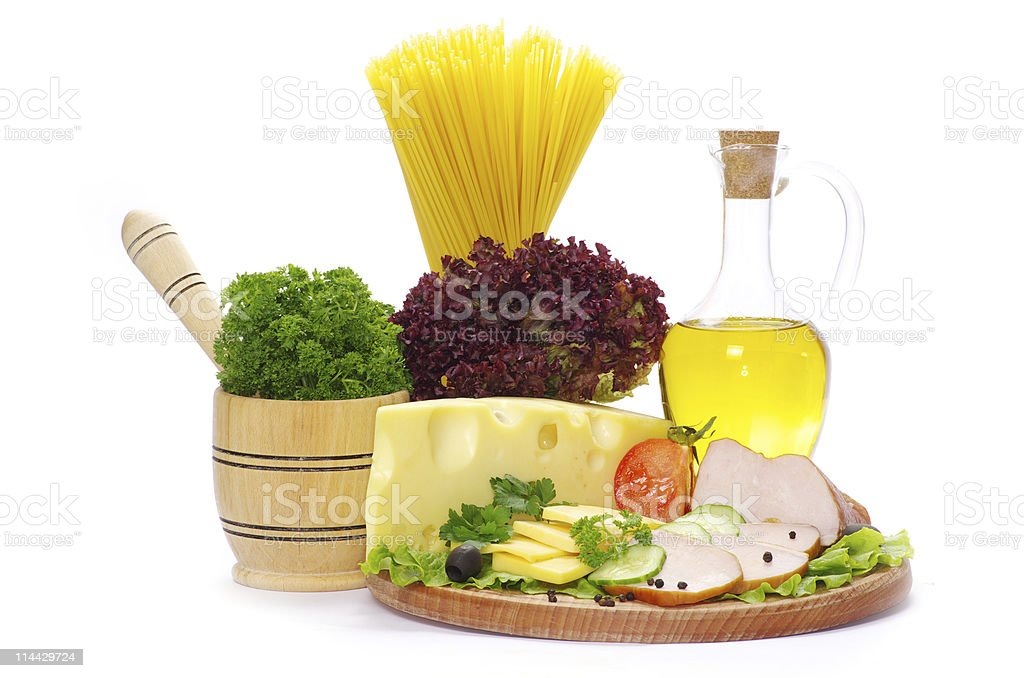 pasta over white royalty-free stock photo