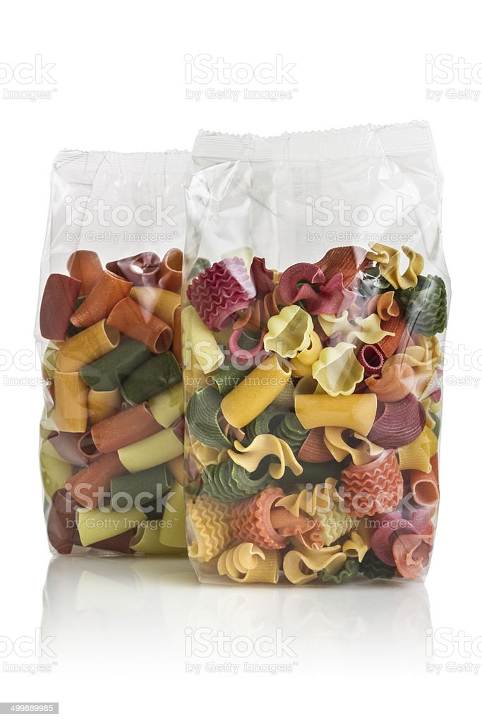 Pasta Packaging stock photo