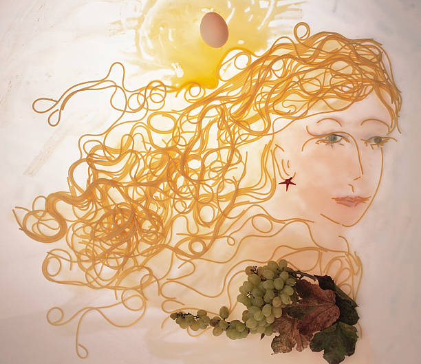 Pasta Surreal portrait made up of pasta grifare stock pictures, royalty-free photos & images