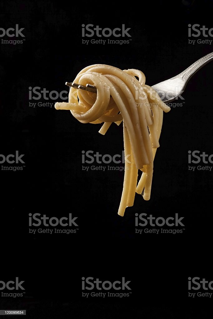pasta - Royalty-free Black Background Stock Photo