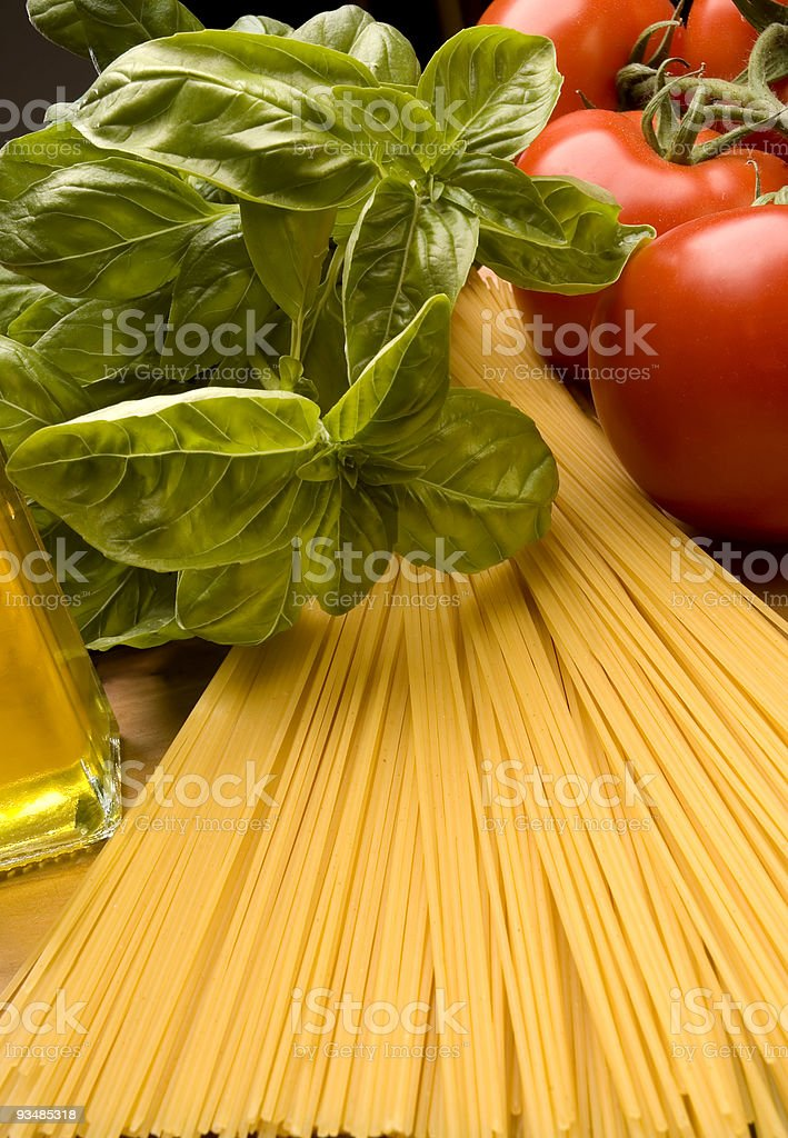 pasta  Basil Stock Photo
