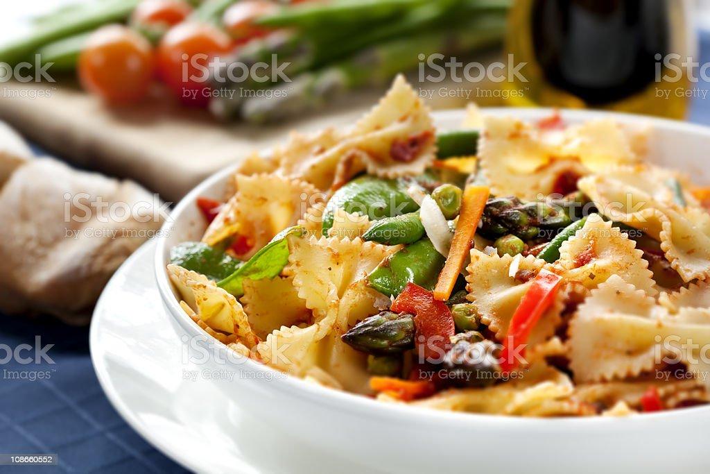 Pasta Primavera royalty-free stock photo