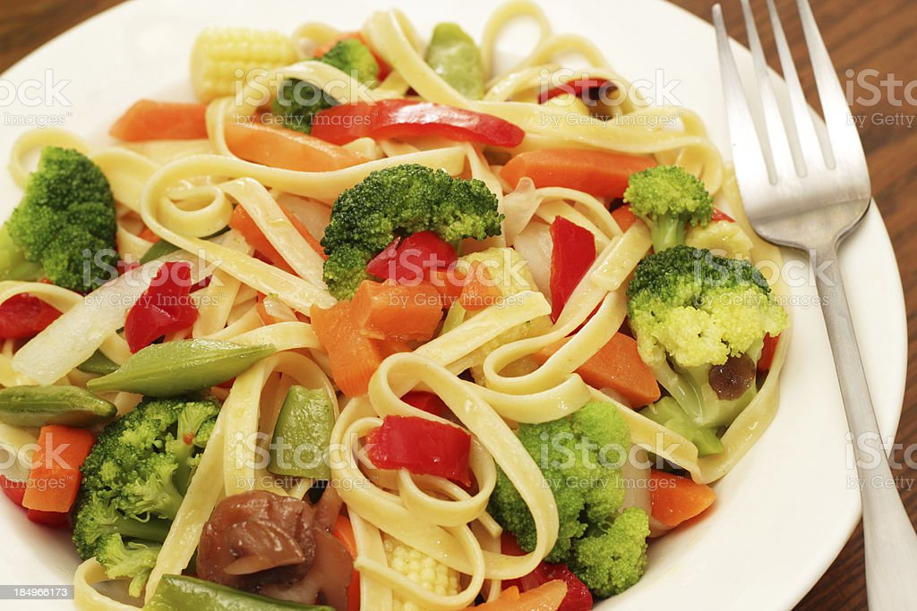 Pasta Primavera royalty-free stock photo