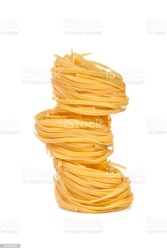 Pasta products 'nests' stock photo
