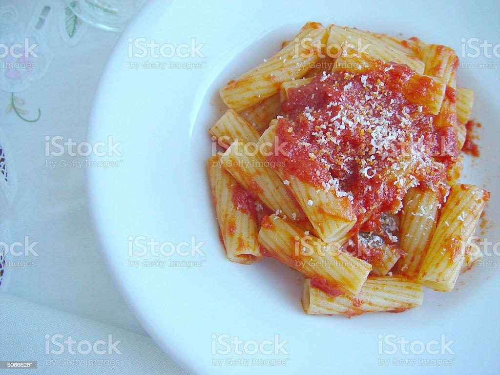 Pasta - rigatoni royalty-free stock photo