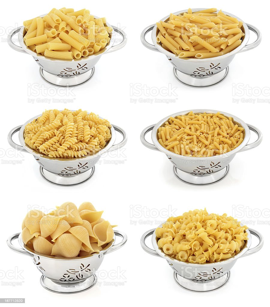 Pasta Selection royalty-free stock photo