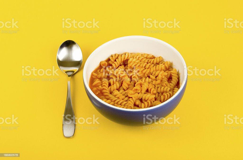 Pasta soup royalty-free stock photo