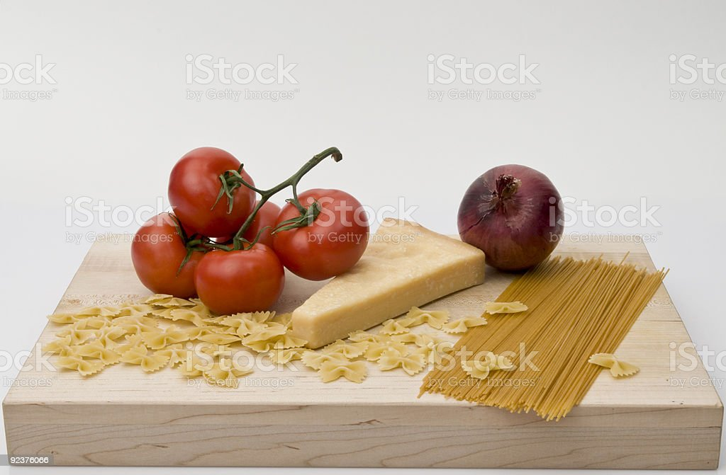 pasta supper ingredients royalty-free stock photo