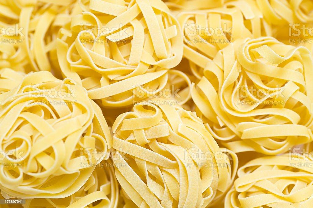 Pasta tagliatelle stock photo