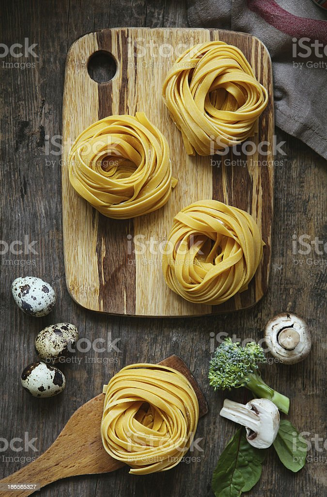 Pasta tagliatelle. royalty-free stock photo