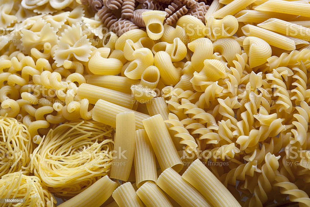 Pasta variation Pasta variation Angel Hair Pasta Stock Photo