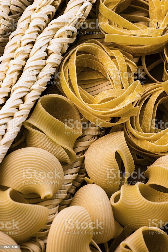 Pasta Variations royalty-free stock photo