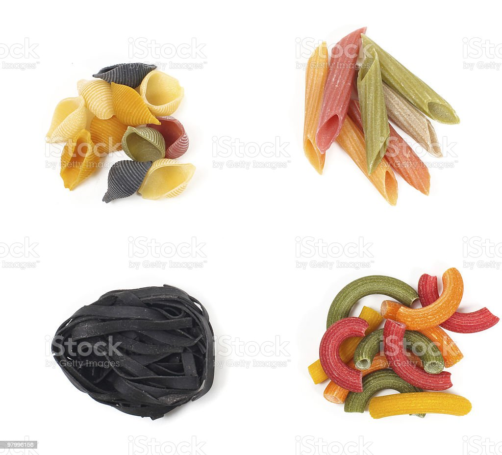 pasta varieties royalty-free stock photo