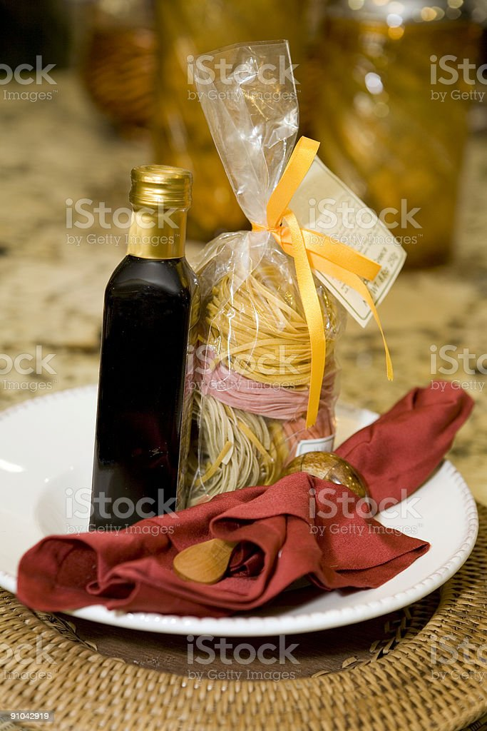 Pasta with Balsamic Vinegar royalty-free stock photo