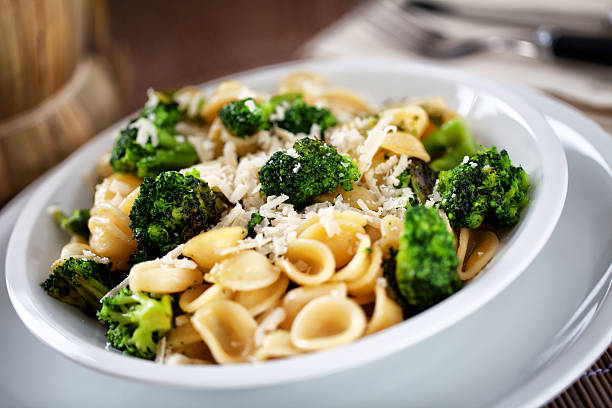 Pasta with broccoli Pasta with broccoli orecchiette stock pictures, royalty-free photos & images