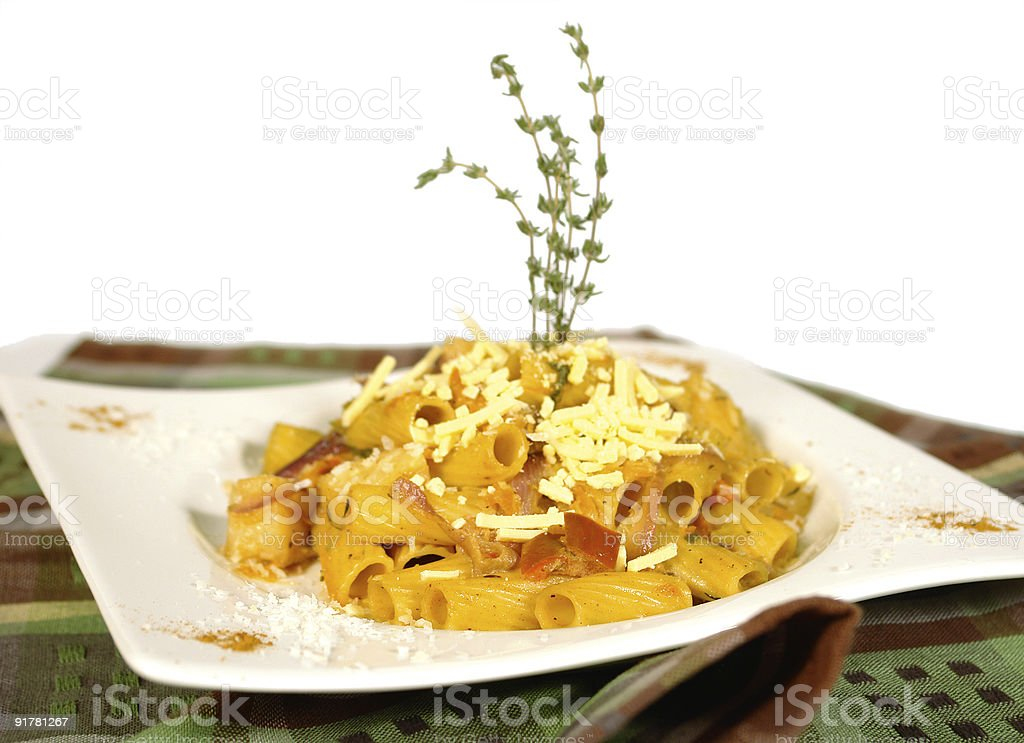 Pasta with cheese stock photo