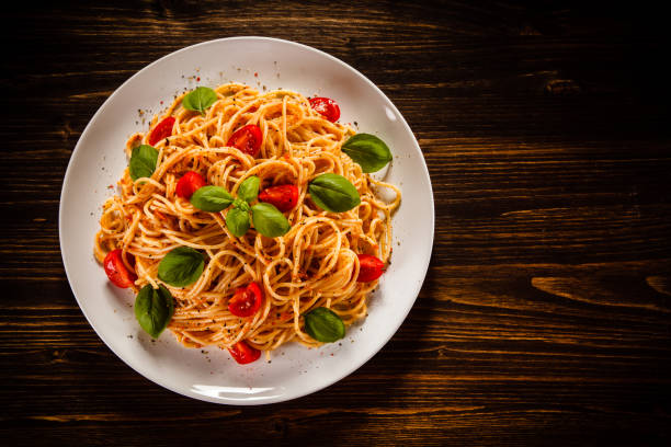 Pasta with meat and vegetables Pasta with meat and vegetables dipping sauce stock pictures, royalty-free photos & images