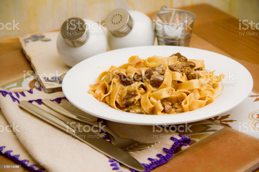 pasta with meat royalty-free stock photo