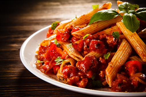 pasta-with-meat-tomato-sauce-and-vegetables-picture-id857927726?b=1&k=6&m=857927726&s=170667a&w=0&h=2PsKzIHncOet6jE3JAA40Oh8d97BUvnZk421Yeb2gww=