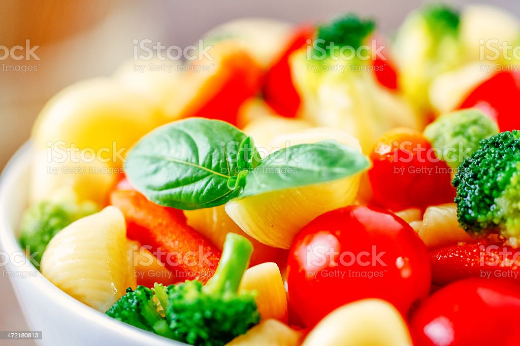 Pasta with mixed vegetables royalty-free stock photo