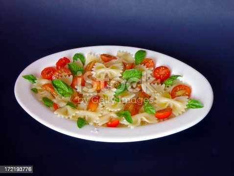 istock Pasta with Raw Tomatoes and Basil 172193776