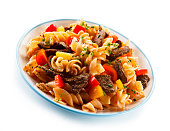 istock Pasta with tomato sauce and grilled beef 1046558960