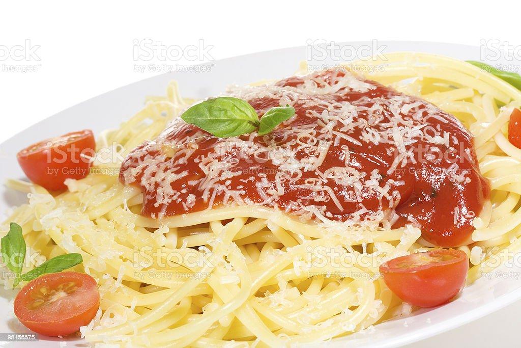 Pasta with tomato sause royalty-free stock photo