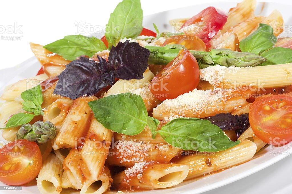 pasta with vegetables royalty-free stock photo