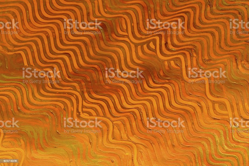Paste Paper: Orange Lines royalty-free stock photo