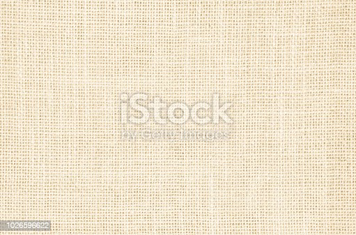 istock Pastel abstract Hessian or sackcloth fabric texture background. Wallpaper of artistic wale linen canvas. Blanket or Curtain of cotton pattern background with copy space for text decoration. 1026596622