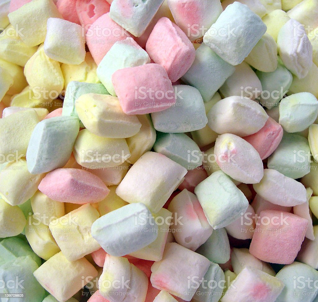 Pastel After Dinner Mints royalty-free stock photo