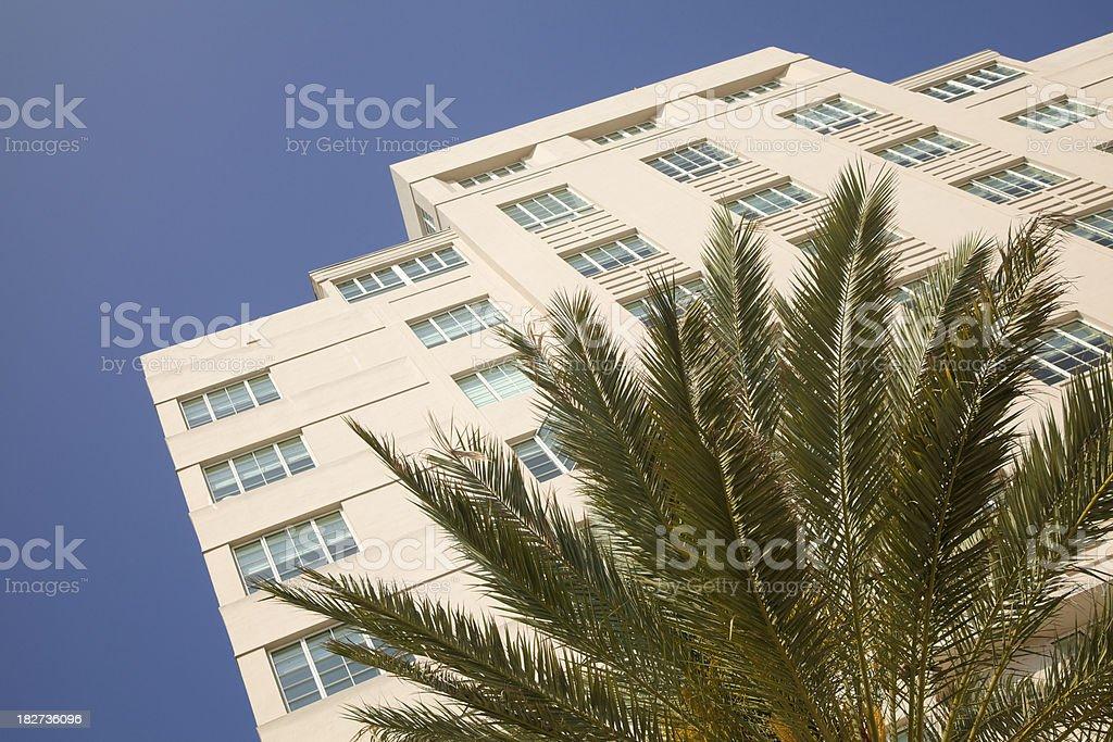 Pastel Art Deco Building, South Beach, Miami, Florida royalty-free stock photo