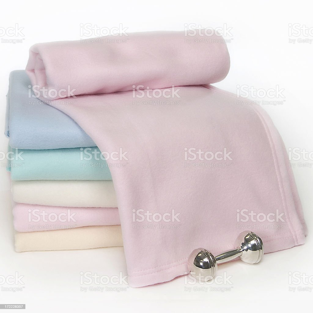 Pastel Baby Blankets stock photo