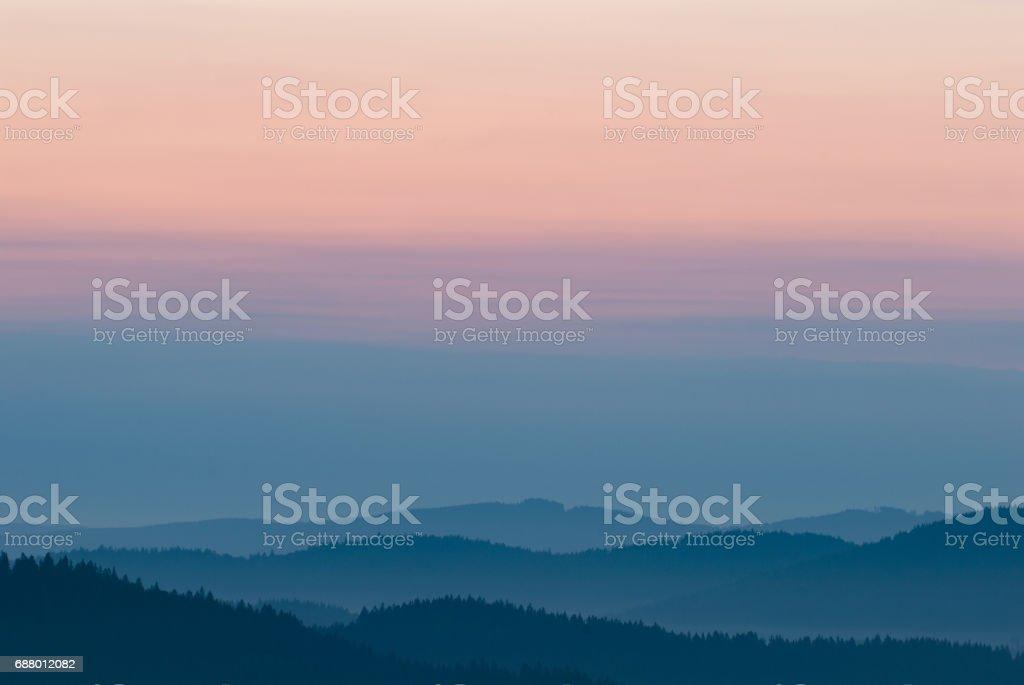 Pastel background, beautiful mountain landscape stock photo