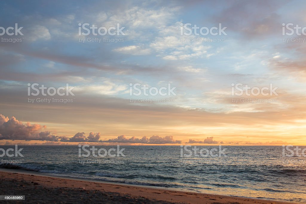 Pastel Beach Scene stock photo
