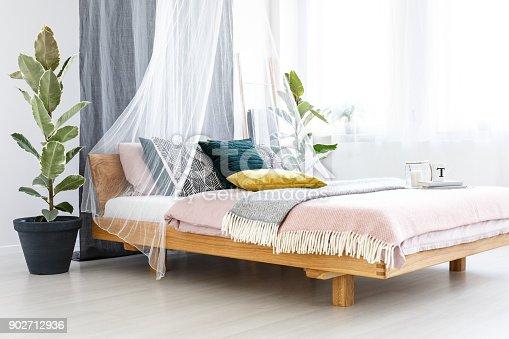 istock Pastel bedroom interior 902712936