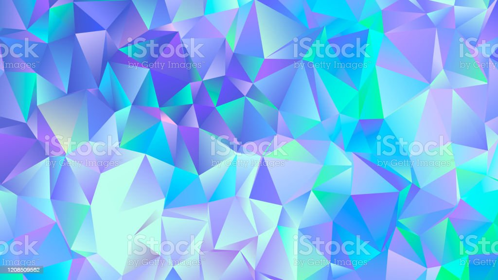 pastel blue crystal low poly backdrop design picture id1208509562