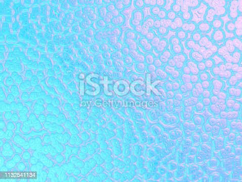 istock Pastel Blue Pink Gradient Ombre Bubble Background Light Purple Holographic Foil Pattern Pearl Circle Texture 1132541134