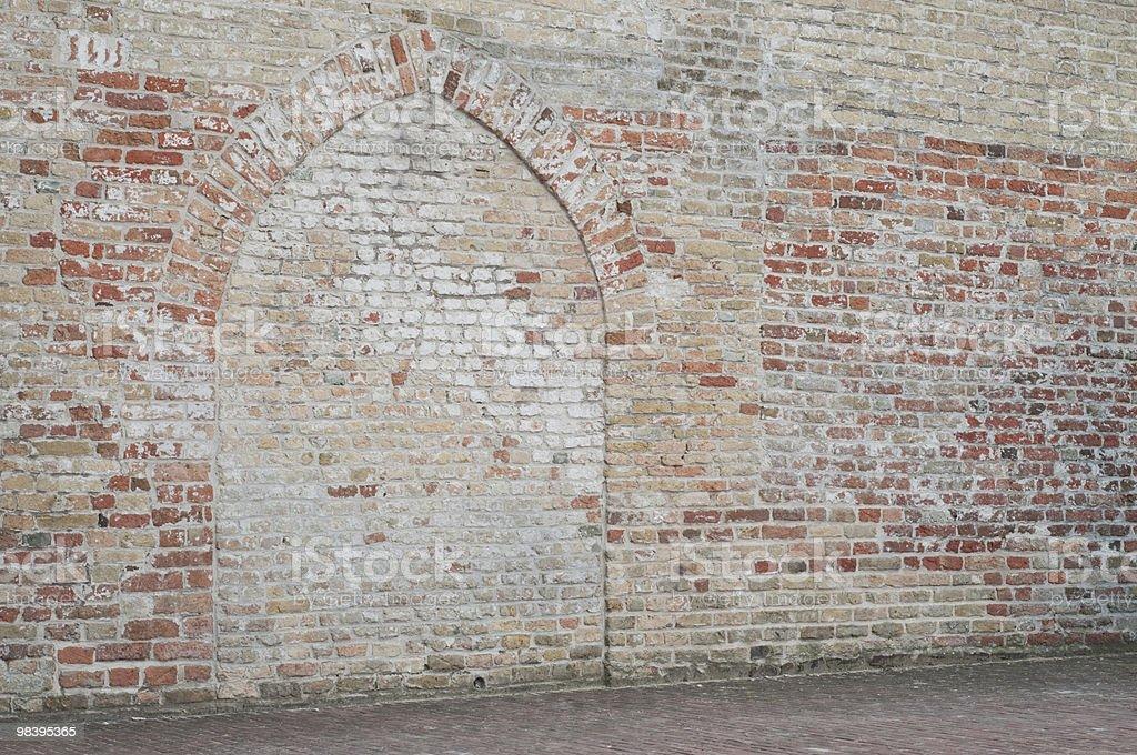 Pastel brick church wall royalty-free stock photo