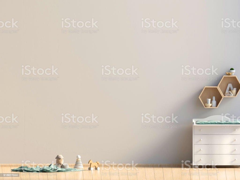 Pastell Kinderzimmer Spielzimmer Moderner Stil 3d Illustration