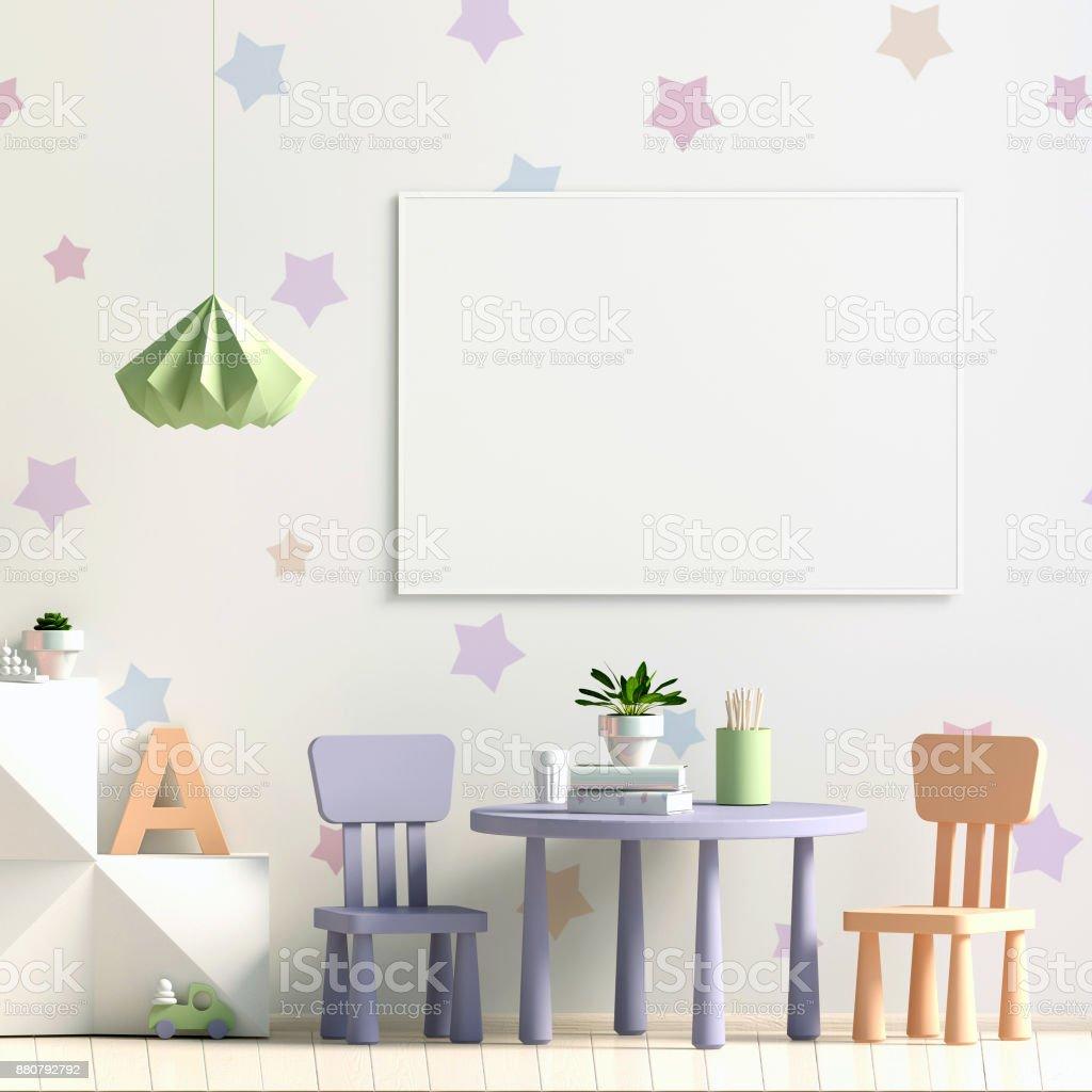 Pastell Kinderzimmer Spielzimmer Moderner Stil 3d Illustration ...