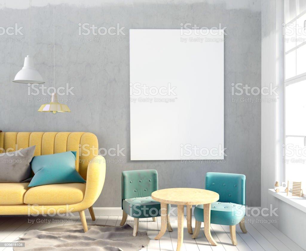 Pastel Chambre Du0027enfant. Salle De Jeux. Style Moderne. Illustration 3D.