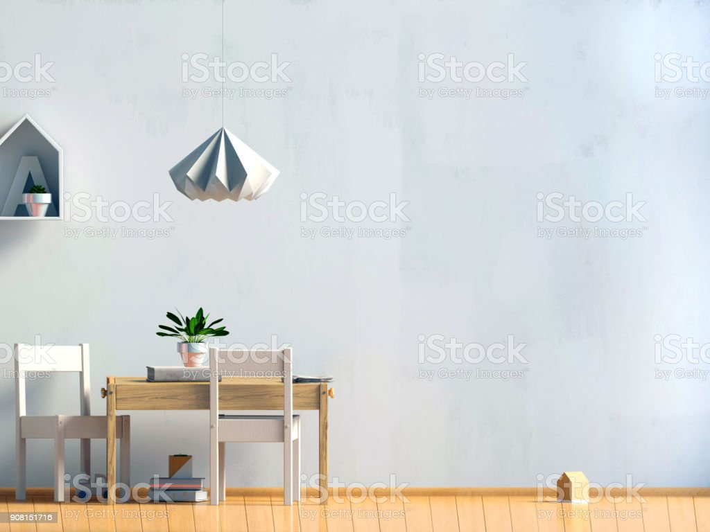Pastel Chambre Denfant Salle De Jeux Style Moderne Illustration 3d ...